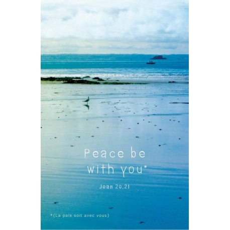 Image « Peace be with you » bleue (Personnalisable)