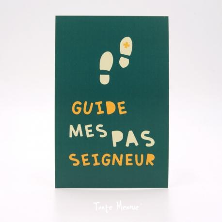 Image Confiance « Guide mes pas Seigneur» (Personnalisable)