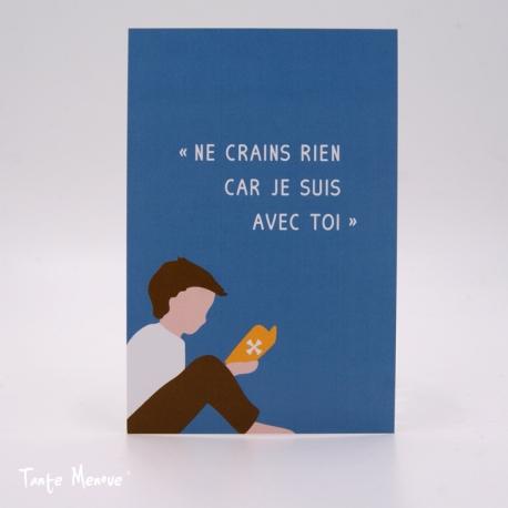 Image Color «Ne crains rien » Bleu  (Personnalisable)