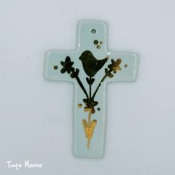 """Croix """"arbre de vie"""" (Vert d'eau)"""