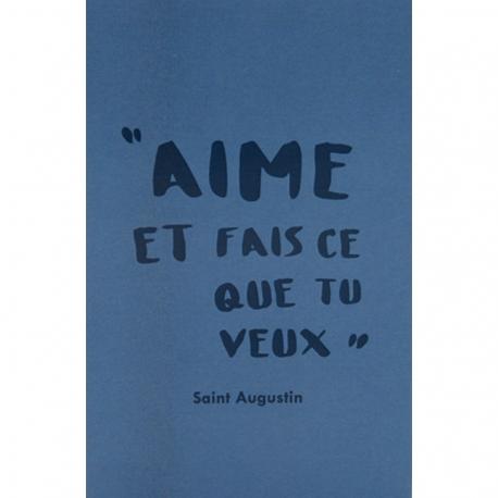 Image «Aime et fais ce que tu veux» (bleue) (Personnalisable)