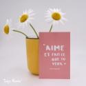 Image «Aime et fais ce que tu veux»  (Personnalisable)