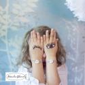 Bracelet de Porcelaine Rose et Or