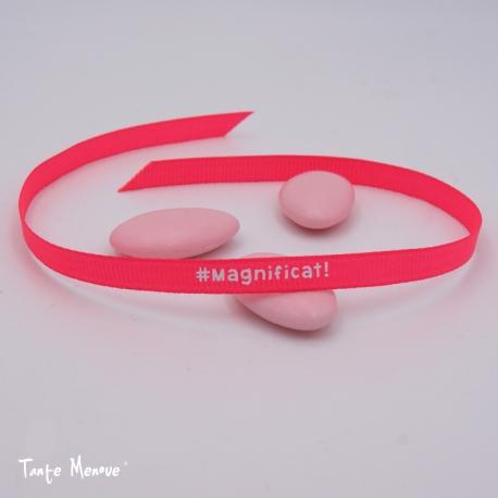 "Bracelet tissu gros grain ""Magnificat!"""