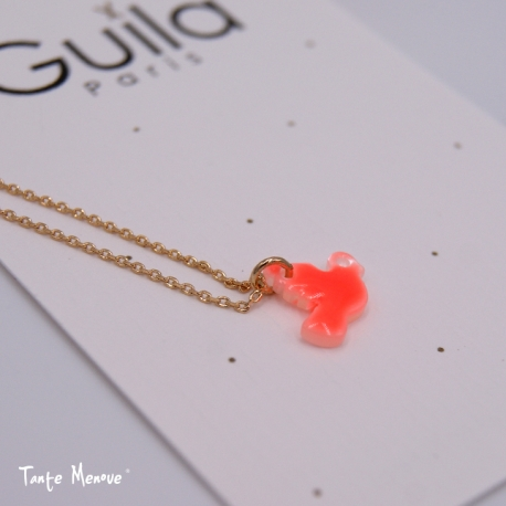 Collier Colombe Corail Fluo x Guila