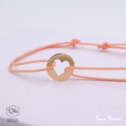 Bracelet Mini Coeur en or
