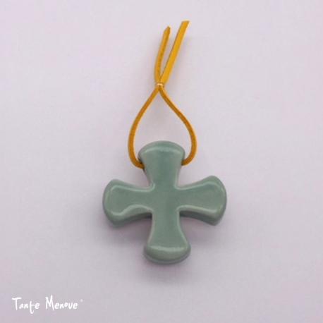 Croix Grecque vert d'eau