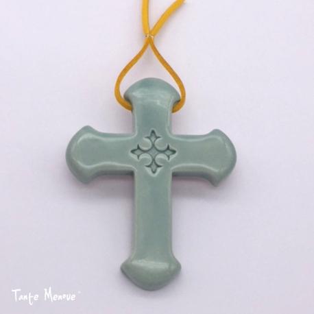 Croix Latine Vert d'eau