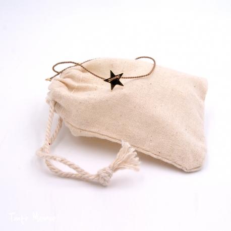 Bracelet de soie étoile TM x Minijoaillerie