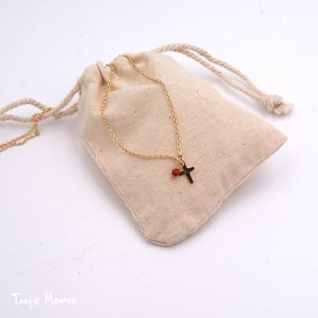 Collier croix TM x Minijoaillerie