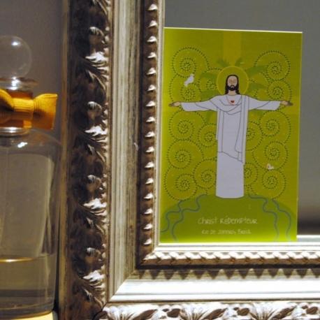 Carte de prière Christ Rédempteur