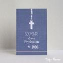Image « Souvenir de ma profession de foi » bleue (Personnalisable)