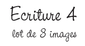 Ecriture 4 - Lot de 3 cartes
